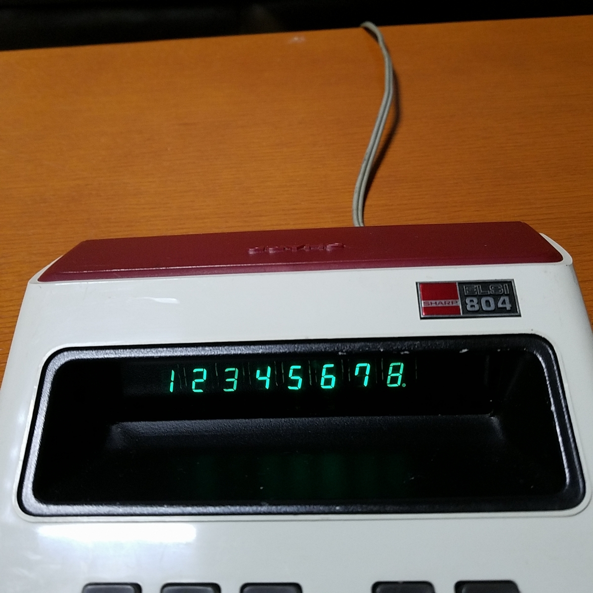 1973年製 希少 昭和レトロ SHARP シャープ EL-804 電光掲示電卓 計算機 日本製_画像2