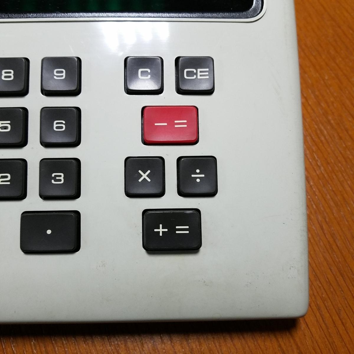 1973年製 希少 昭和レトロ SHARP シャープ EL-804 電光掲示電卓 計算機 日本製_画像4