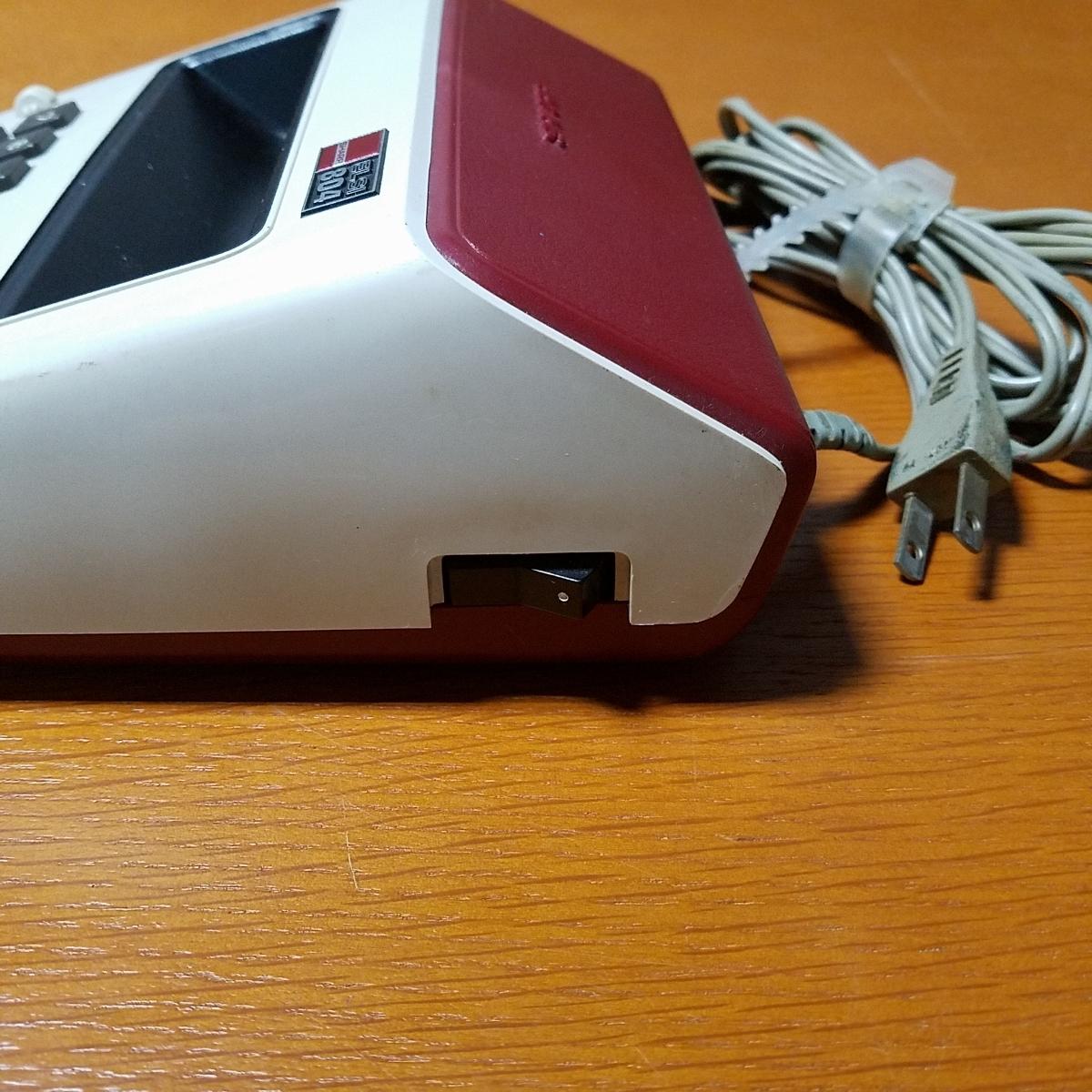 1973年製 希少 昭和レトロ SHARP シャープ EL-804 電光掲示電卓 計算機 日本製_画像6
