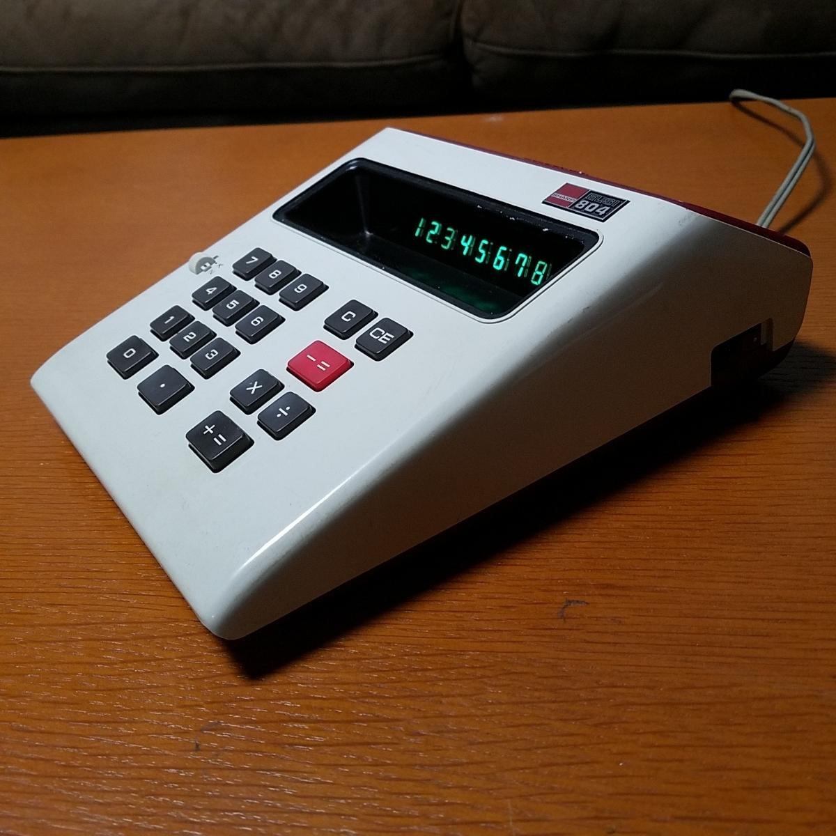 1973年製 希少 昭和レトロ SHARP シャープ EL-804 電光掲示電卓 計算機 日本製_画像5