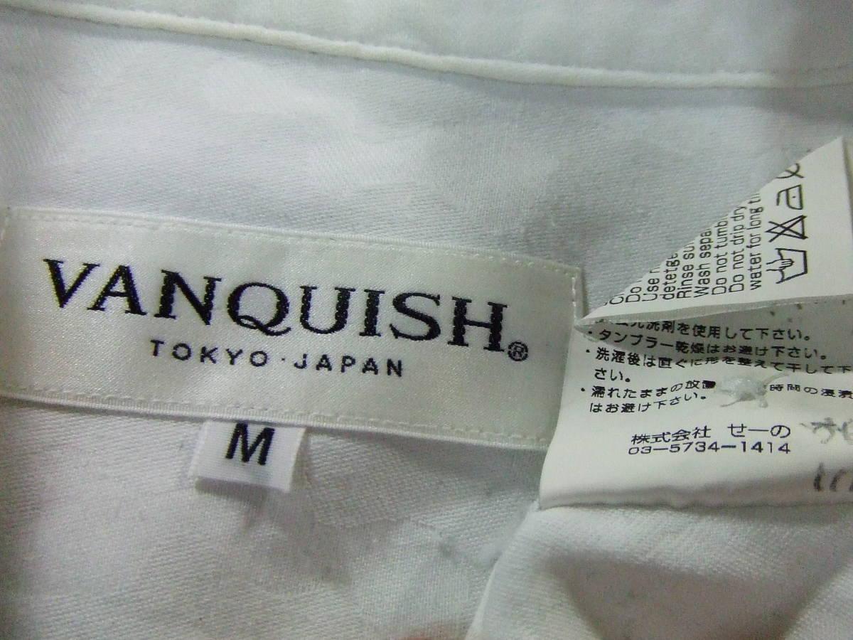 ヴァンキッシュVANQUISH TOKYO JAPAN 長袖シャツ SIZE:M 白 送料215円~_画像7