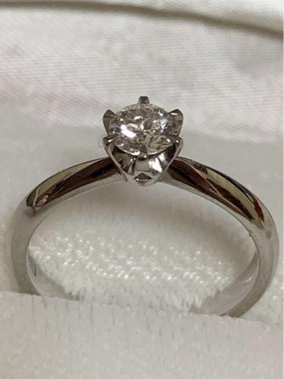 婚約指輪 エンゲージリング ダイヤモンド 0.324ct プラチナ 日米宝石鑑別センター鑑定書付 0.324ct F カラー VVS1クラス EXCELLENTカット_画像1