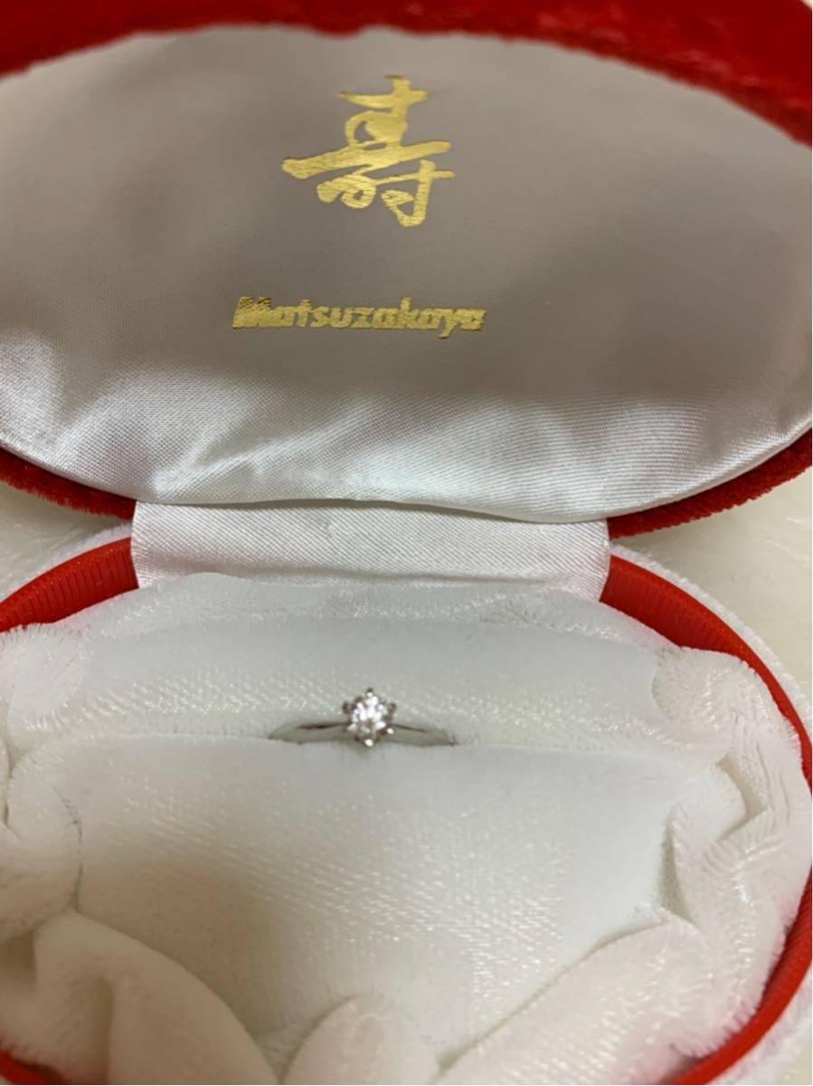 婚約指輪 エンゲージリング ダイヤモンド 0.324ct プラチナ 日米宝石鑑別センター鑑定書付 0.324ct F カラー VVS1クラス EXCELLENTカット_画像2