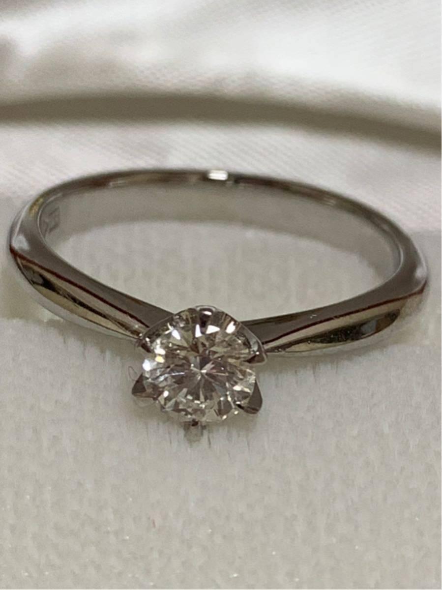 婚約指輪 エンゲージリング ダイヤモンド 0.324ct プラチナ 日米宝石鑑別センター鑑定書付 0.324ct F カラー VVS1クラス EXCELLENTカット_画像3