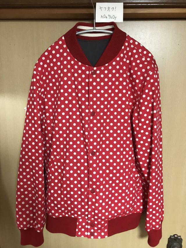 【希少】Supreme/COMME des GARCONS SHIRT Reversible Varsity Baseball Jacket M Red_画像3