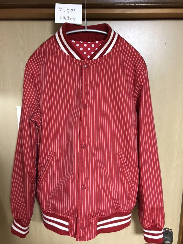 【希少】Supreme/COMME des GARCONS SHIRT Reversible Varsity Baseball Jacket M Red_画像5