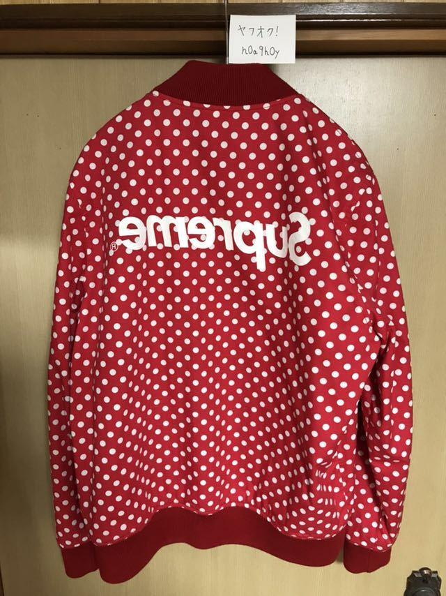 【希少】Supreme/COMME des GARCONS SHIRT Reversible Varsity Baseball Jacket M Red_画像2