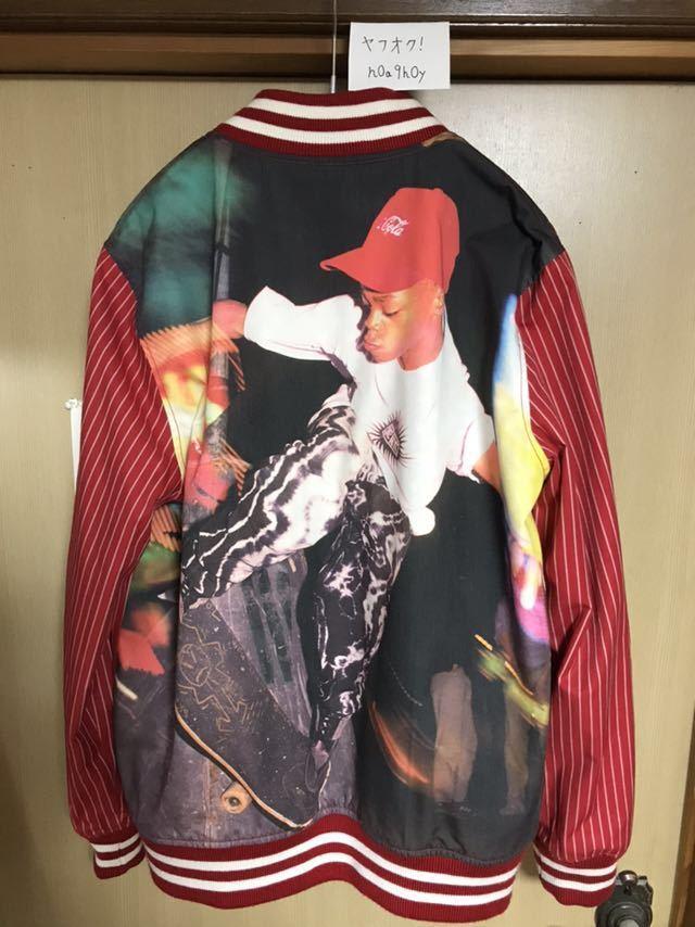 【希少】Supreme/COMME des GARCONS SHIRT Reversible Varsity Baseball Jacket M Red_画像4