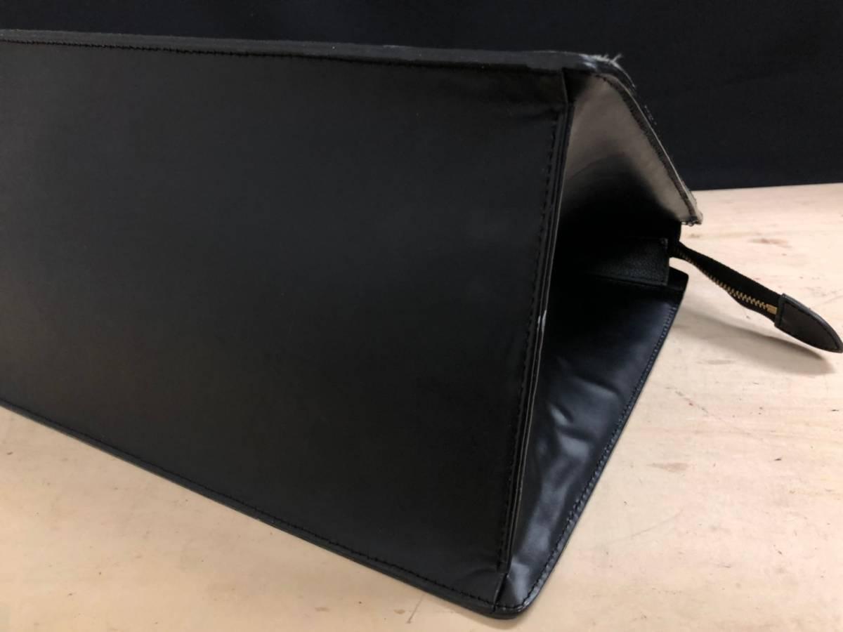 A02d03I LOUIS VUITTON ハンドバッグ ビジネスバッグ エピ リヴィエラ ブラック 黒 ルイヴィトン LV_画像6