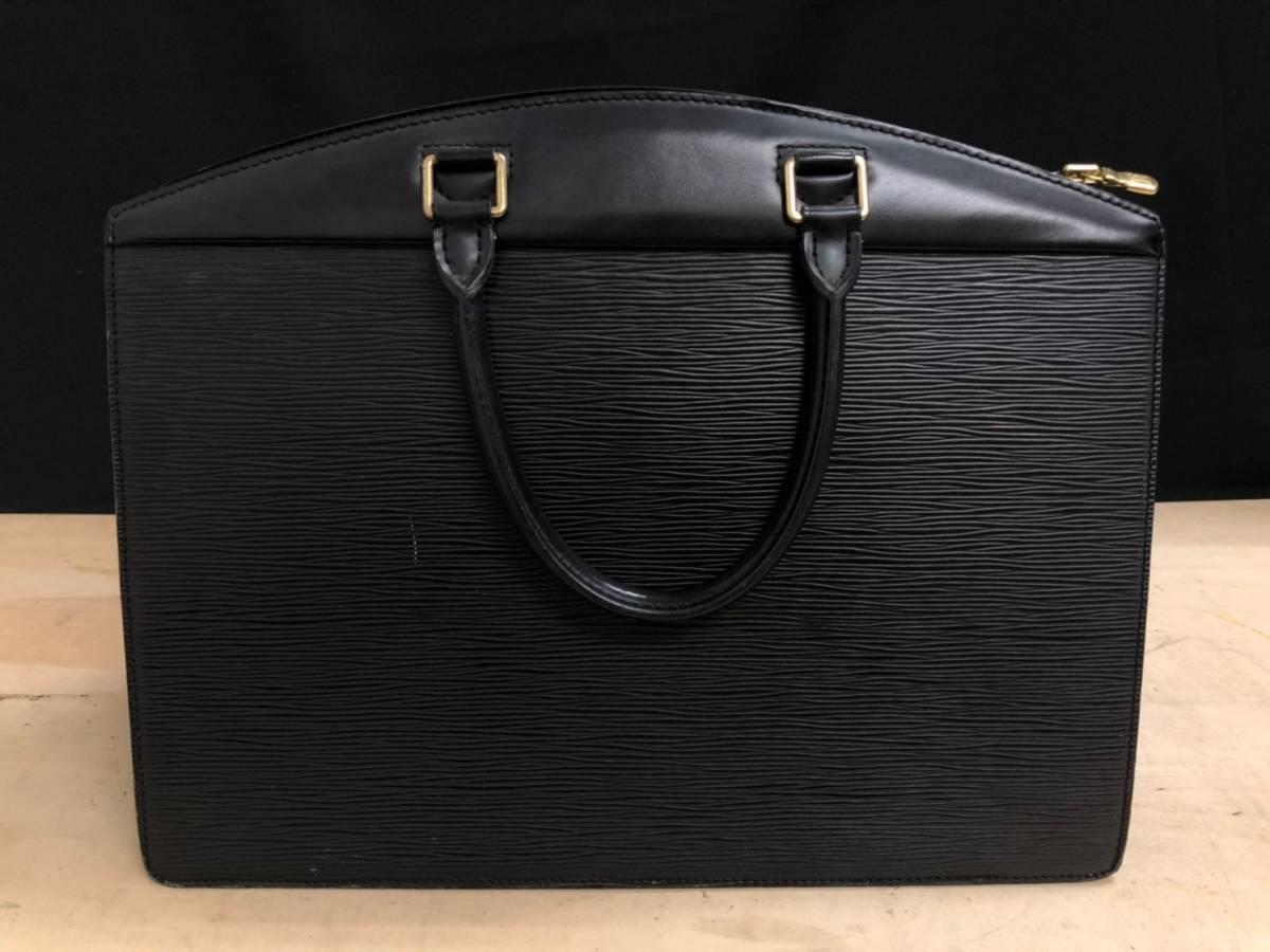 A02d03I LOUIS VUITTON ハンドバッグ ビジネスバッグ エピ リヴィエラ ブラック 黒 ルイヴィトン LV_画像2