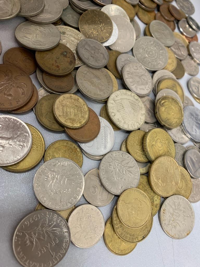 ★【大量おまとめ 約950g】外国銭 外国硬貨 リバティもたくさん♪アジア ヨーロッパ 中華 ドル 様々_画像5