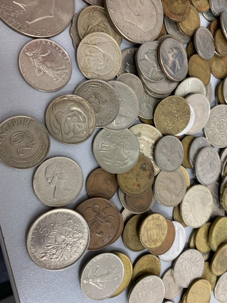 ★【大量おまとめ 約950g】外国銭 外国硬貨 リバティもたくさん♪アジア ヨーロッパ 中華 ドル 様々_画像4