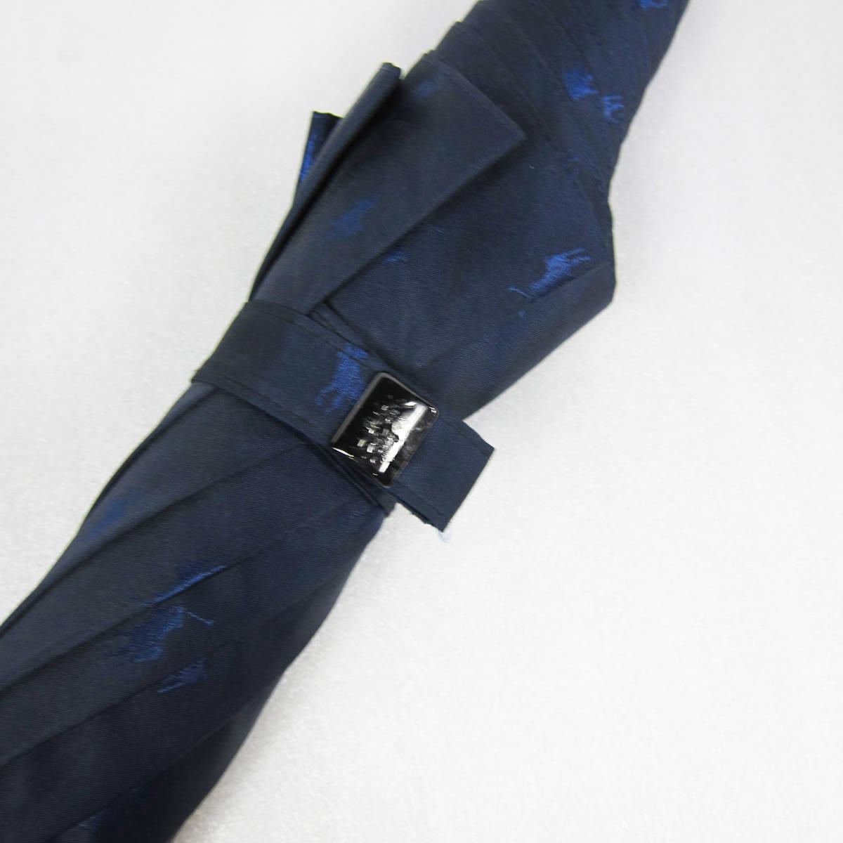 M5149●POLO RALPH LAUREN ポロ ラルフローレン 紳士傘 ポニーマーク ネイビー グラスファイバー骨 65cm USED 中古品_画像8