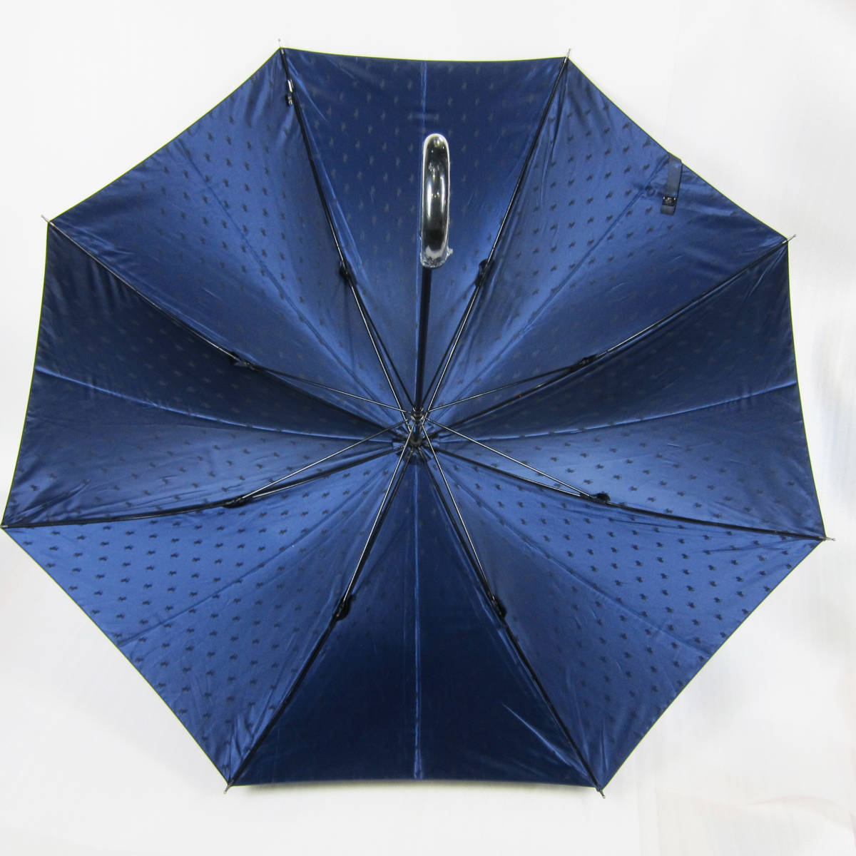 M5149●POLO RALPH LAUREN ポロ ラルフローレン 紳士傘 ポニーマーク ネイビー グラスファイバー骨 65cm USED 中古品_画像3