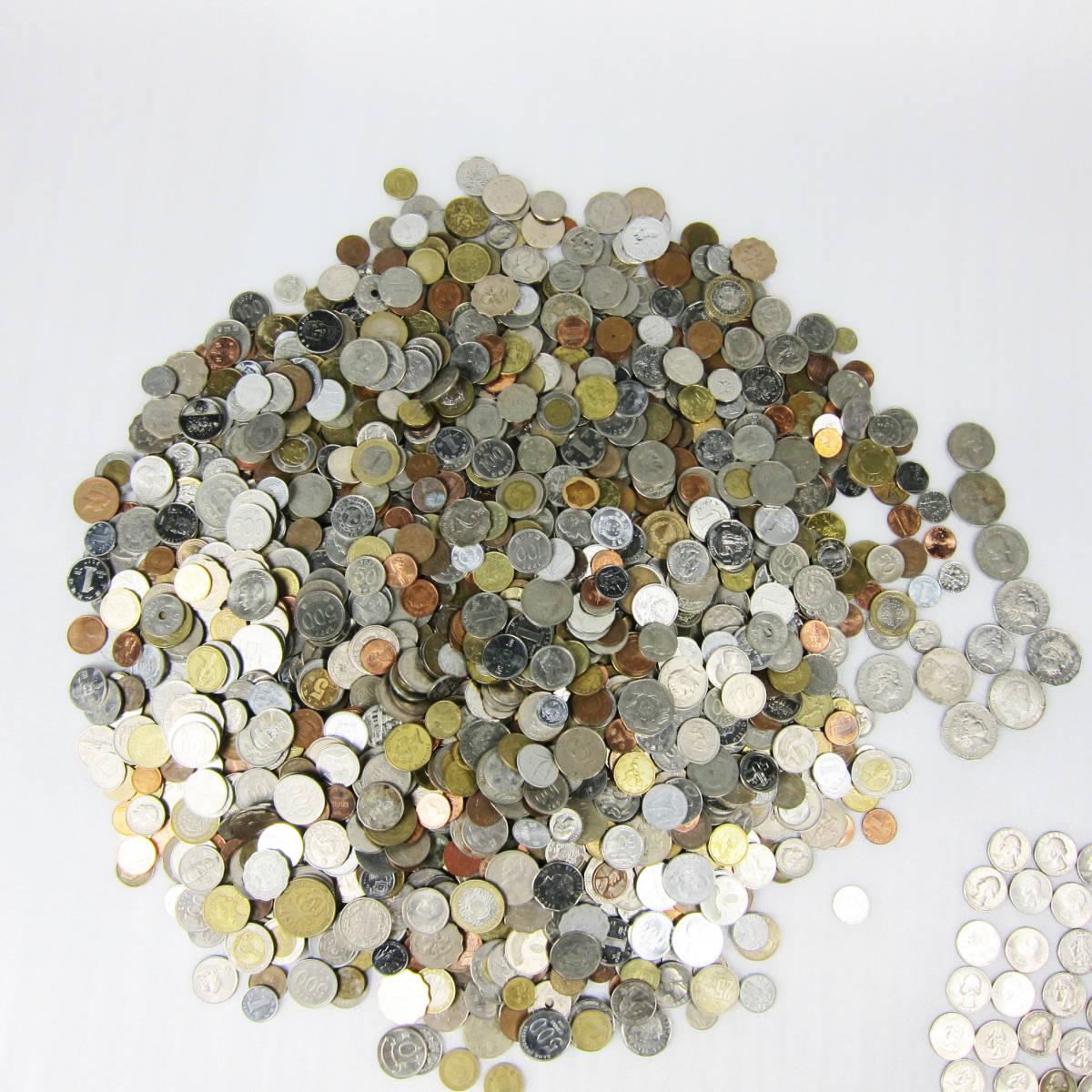 M4023●外国硬貨1円スタート第八弾 大量 詰め合わせ 約10Kg USリバティコイン他 欧米 アジア オセアニア 世界のコイン