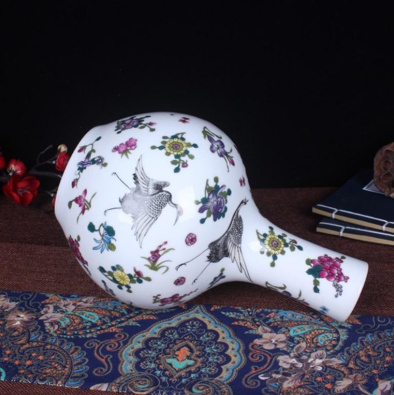 花瓶 中国陶磁器 景徳鎮 陶器/花器 飾り瓶 陶器 賞瓶 文斎賞物 置物 唐物 花壺 花入 陶芸 071208_画像2