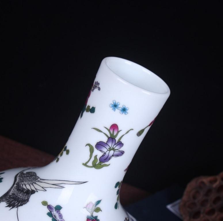 花瓶 中国陶磁器 景徳鎮 陶器/花器 飾り瓶 陶器 賞瓶 文斎賞物 置物 唐物 花壺 花入 陶芸 071208_画像3
