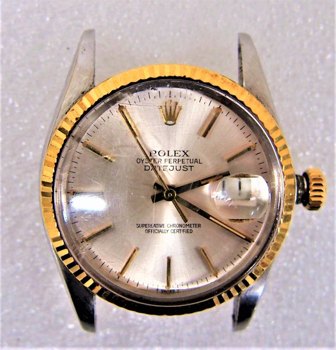 E★ロレックス デイトジャスト ROLEX DATE JUST 16013 8番台 コンビ YG/SS メンズ 腕時計 ジャンク品 1円スタート_画像2