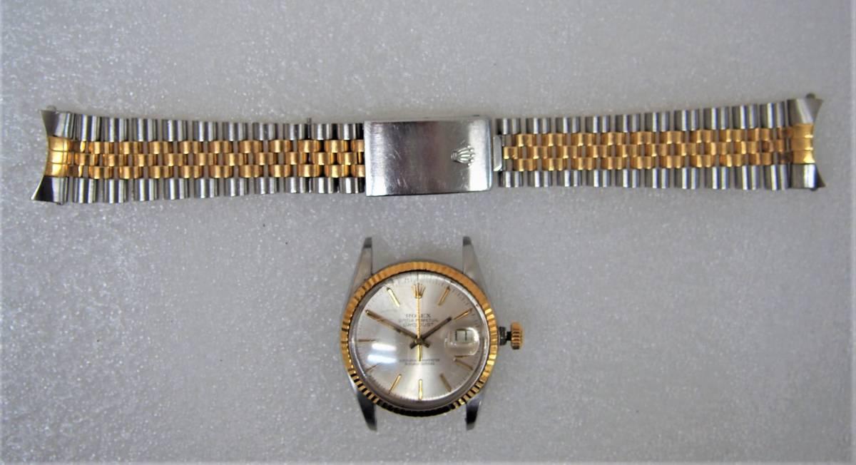 E★ロレックス デイトジャスト ROLEX DATE JUST 16013 8番台 コンビ YG/SS メンズ 腕時計 ジャンク品 1円スタート