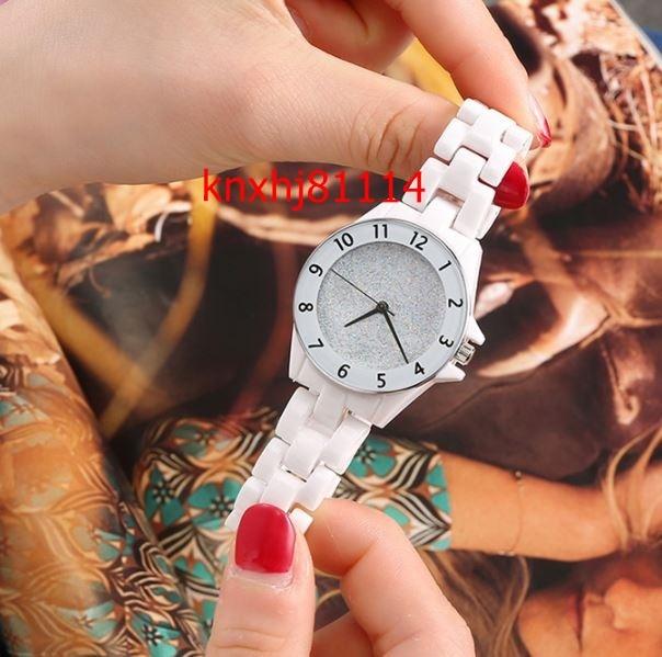【破格の1円スタート】女性 防水 カジュアル エレガント セラミック ホワイト クォーツ 腕時計 レディース gd_画像8