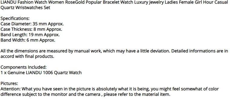 【破格の1円スタート】ファッション 女性 ローズゴールド ブレスレット 高級 ジュエリー レディース クォーツ 腕時計 セット ai_画像10