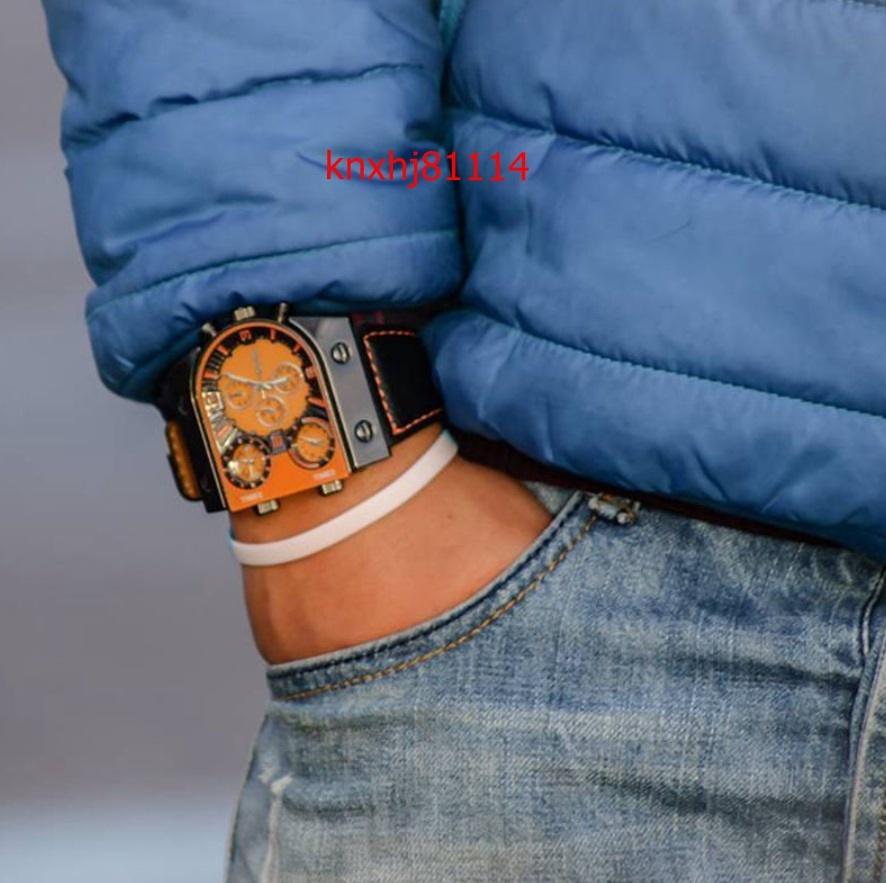 【破格の1円スタート】メンズ 腕時計 クォーツ カジュアル レザー スポーツ マルチタイムゾーン ミリタリー bf_画像7