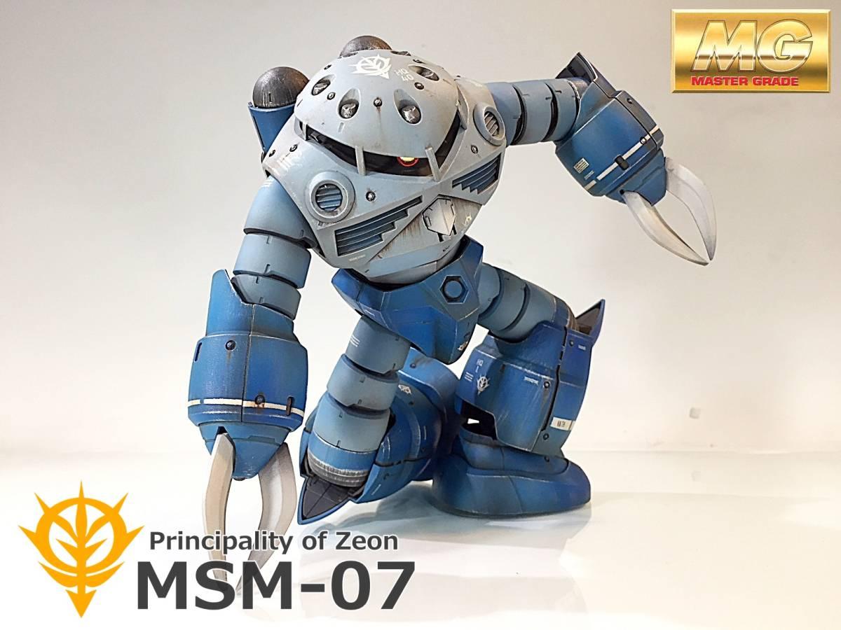 【MG 1/100 MSM-07 ズゴック 戦場風 改修塗装完成品】_画像1