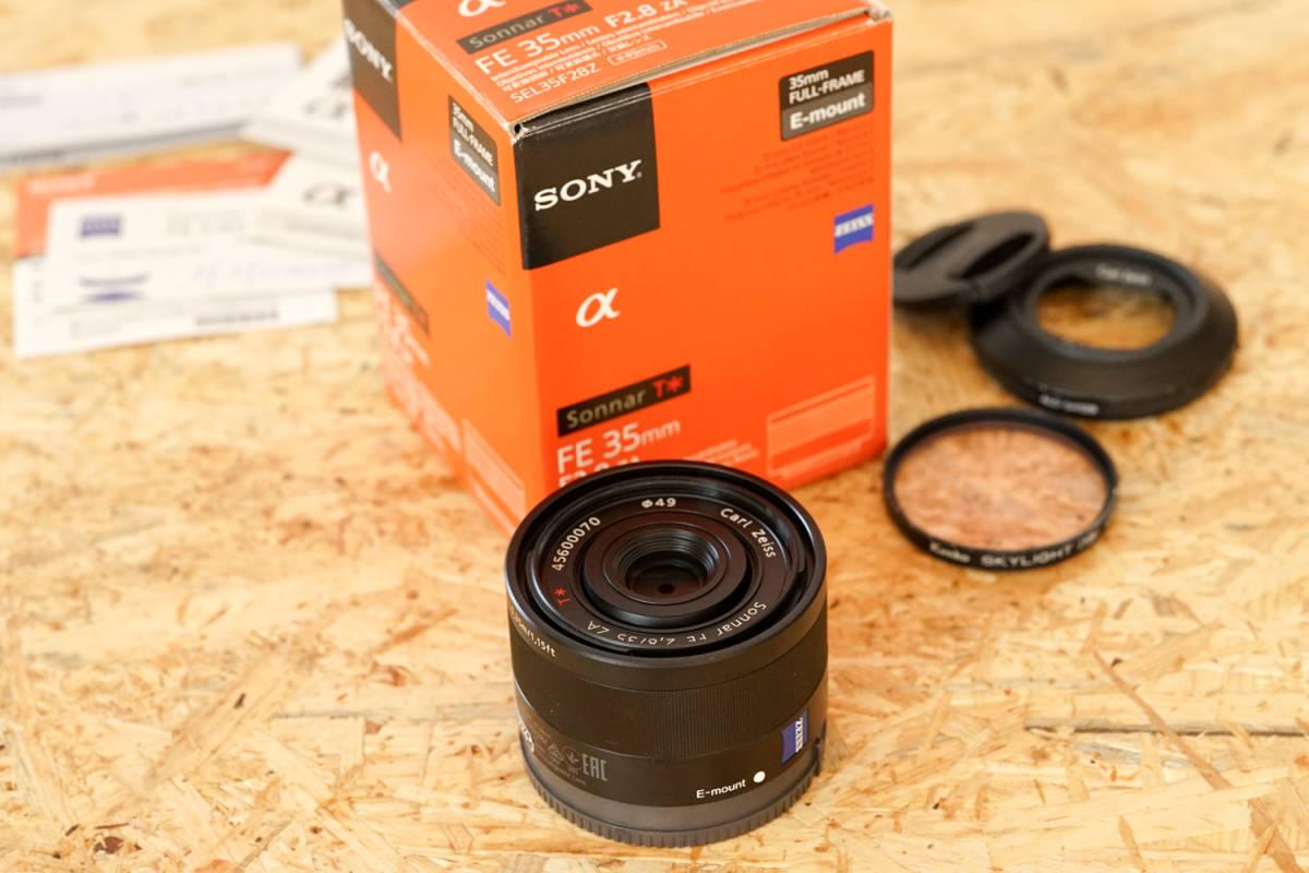 SONY SEL35F28Z Sonnar T* FE 35mm F2.8 ZA  元箱など付属品一式_画像7