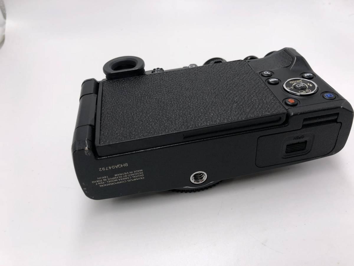 OLYMPUS -PEN F オリンパス レンジファインダーカメラ 美品 ブラック 付属品あり ショット数4918 17mm f1.8_画像8