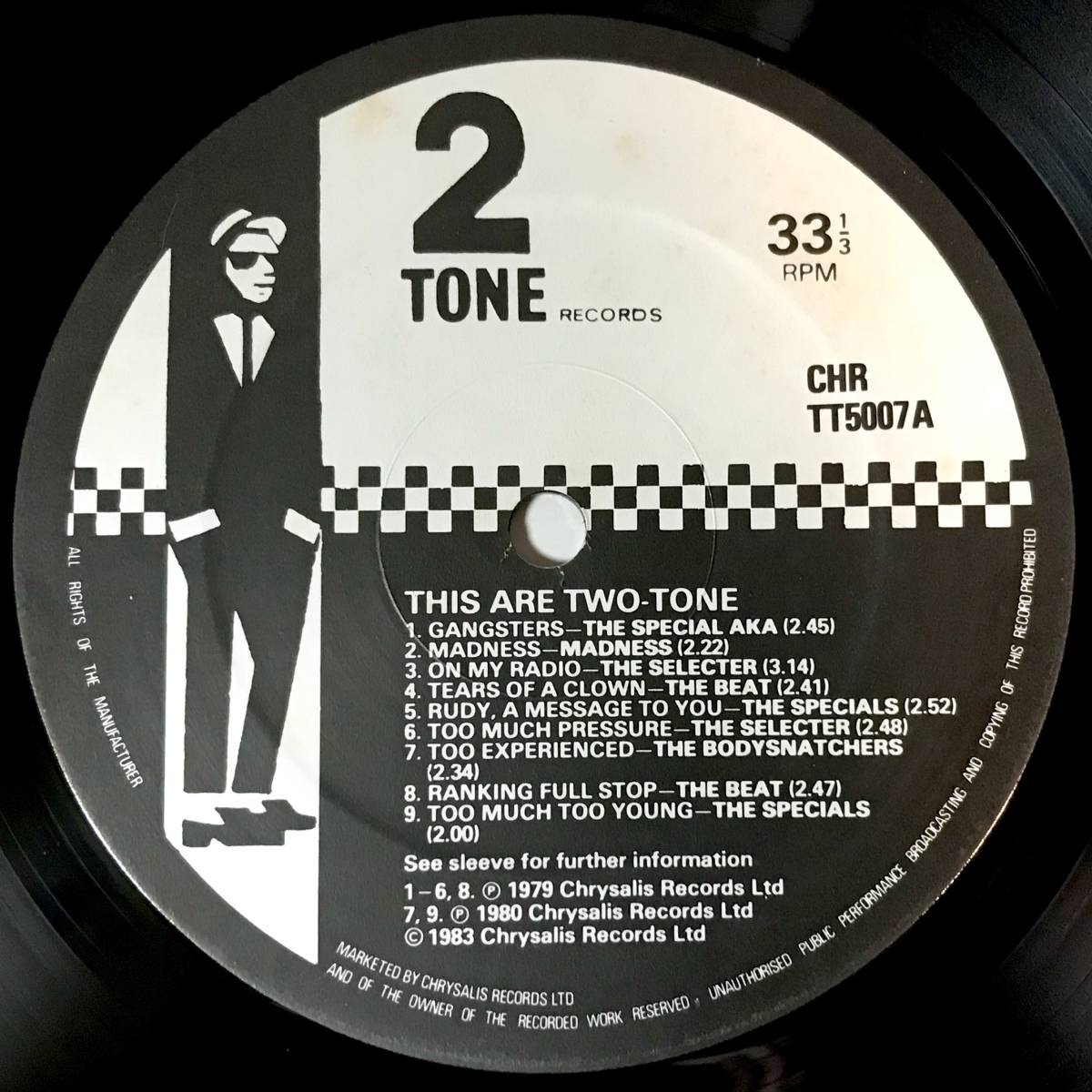 【SKA】【REGGAE】V.A.//THIS ARE TWO TONE//THE SPECIALS//MADNESS//THE SELECTER//RICO//CHRTT5007//VINYL LP/UK_画像3
