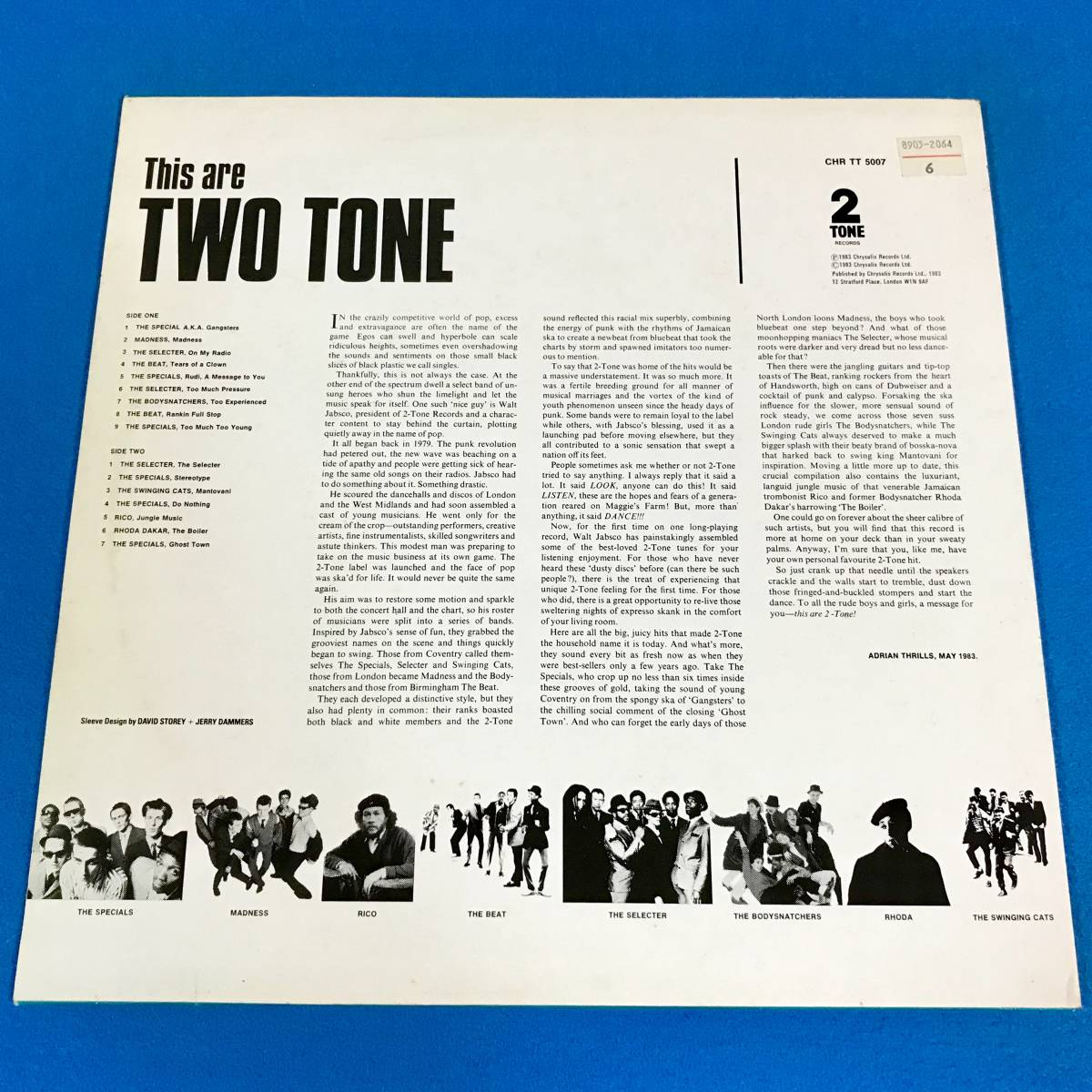 【SKA】【REGGAE】V.A.//THIS ARE TWO TONE//THE SPECIALS//MADNESS//THE SELECTER//RICO//CHRTT5007//VINYL LP/UK_画像2