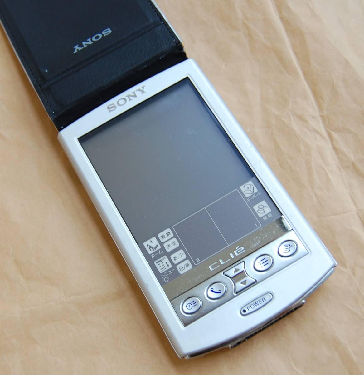 【美品】SONY CLIE PalmOS 4.1搭載PDA PEG-N750C 外観良好 現状渡し 送料210円~