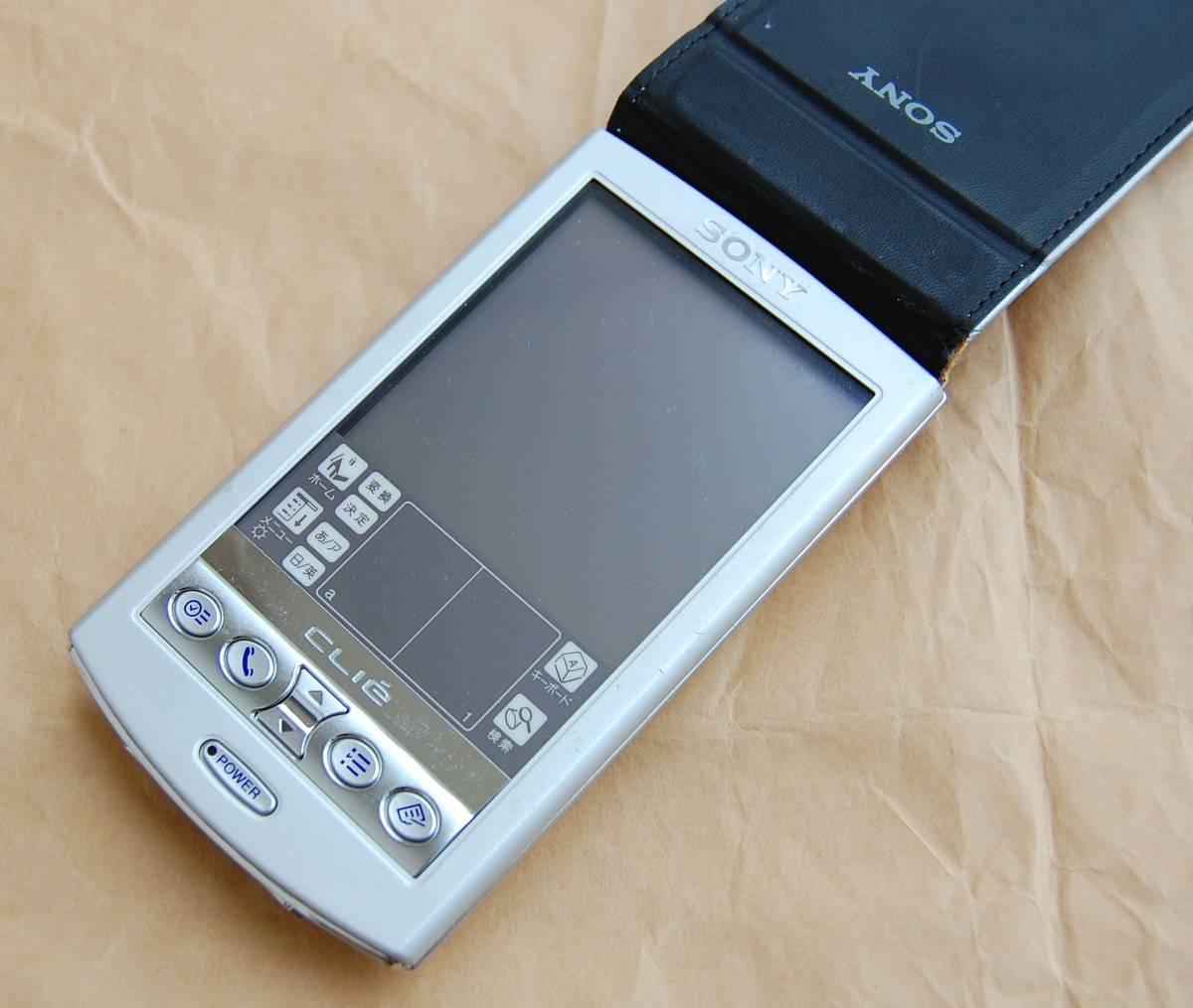 【美品】SONY CLIE PalmOS 4.1搭載PDA PEG-N750C 外観良好 現状渡し 送料210円~_画像2