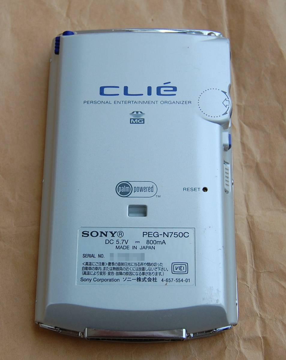 【美品】SONY CLIE PalmOS 4.1搭載PDA PEG-N750C 外観良好 現状渡し 送料210円~_画像4
