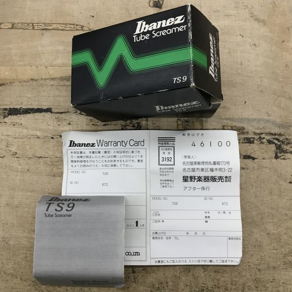 T06-014-0709-088 Ibanez Tube Screamer TS9 MADE IN JAPAN 中古_画像5