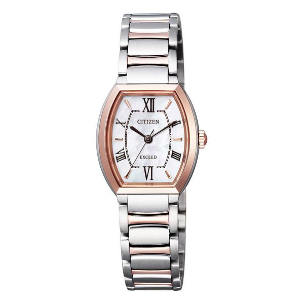 シチズン EXCEED エコドライブ トノー型 白蝶貝文字盤 レディース腕時計★EX2084-50A_画像1