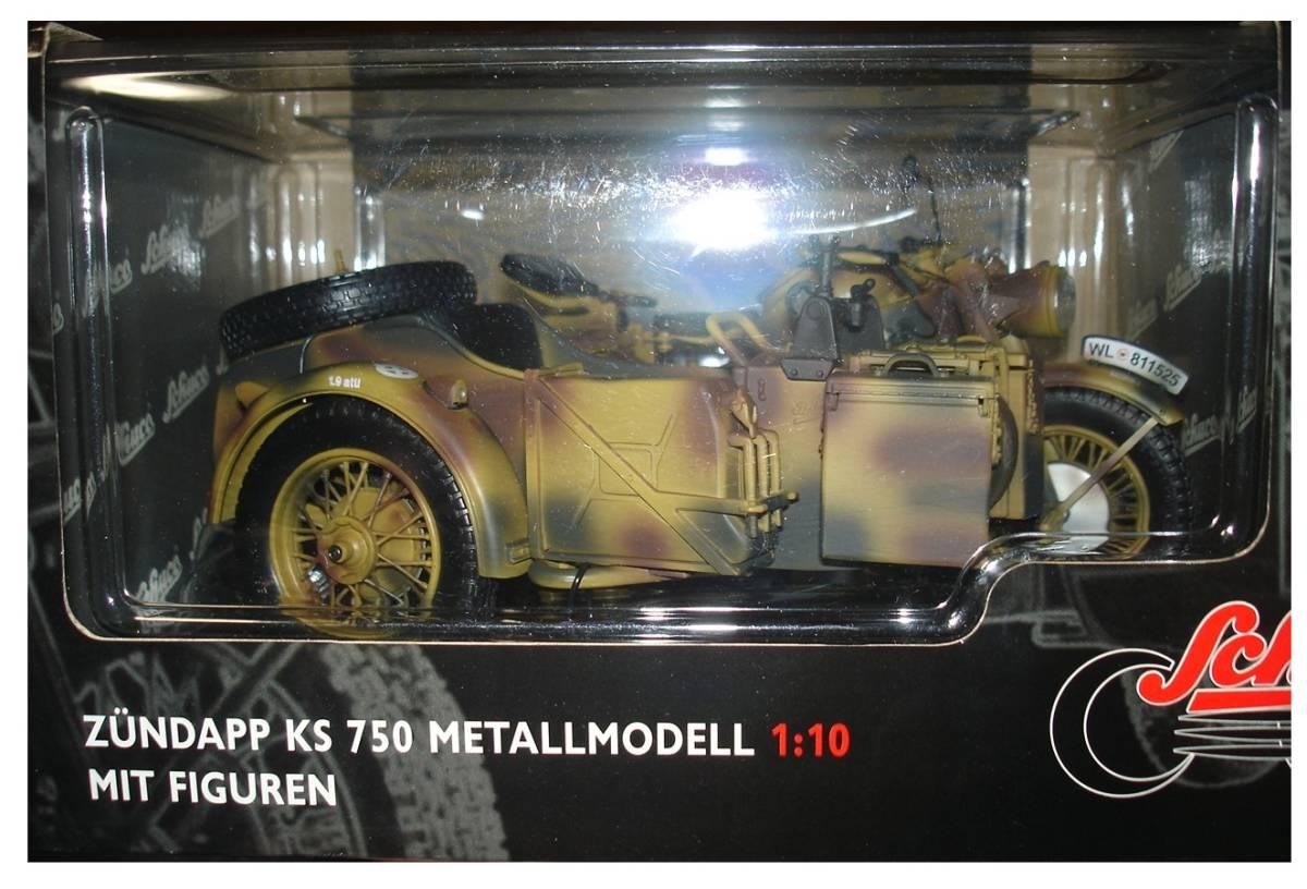 即決有り ドイツ陸軍 ツェンダップ KS750 サイドカー&フィギュアセット 1/10 タミヤ シュコー _画像7