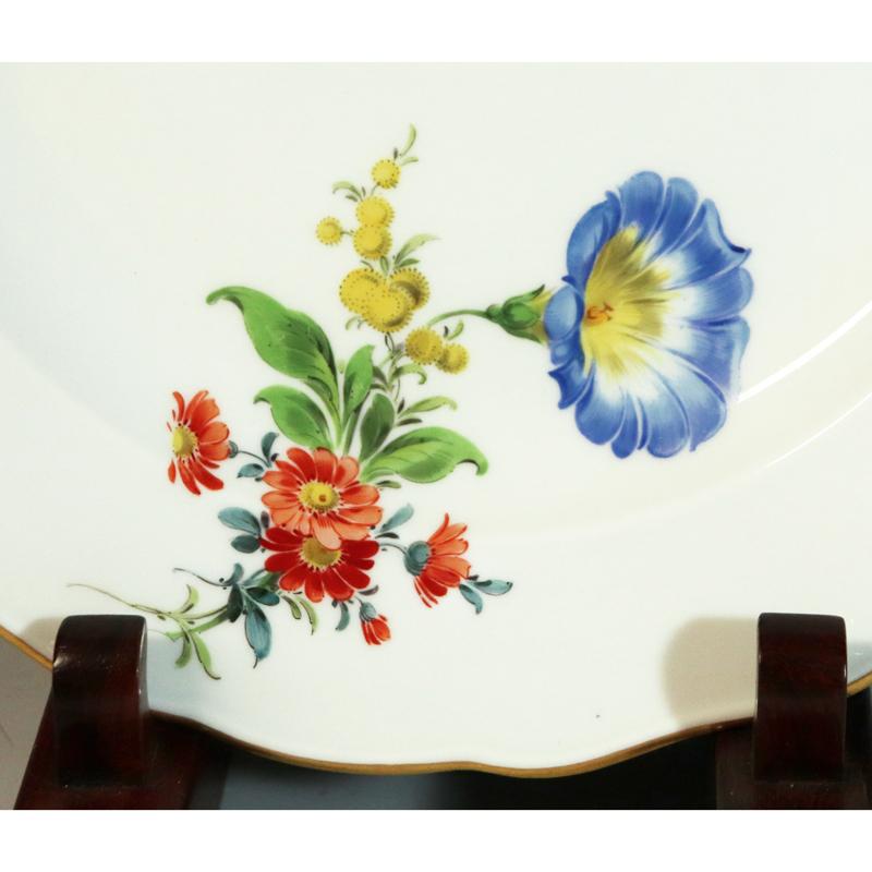Meissen(マイセン) ベーシックフラワー 6つ花 円皿/プレート 九客(25.1cm)_画像6