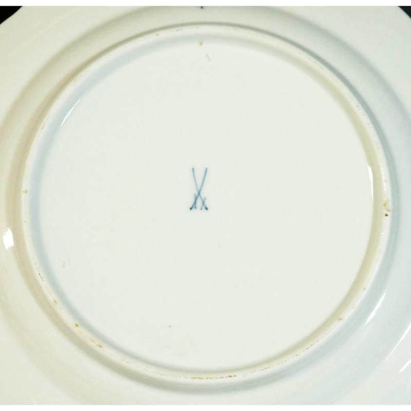 Meissen(マイセン) ベーシックフラワー 6つ花 円皿/プレート 九客(25.1cm)_画像7