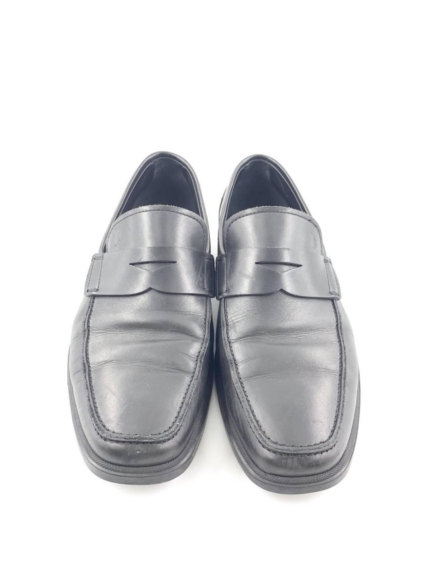 【1円スタート】 トッズ TOD'S レザー スリッポン 靴 シューズ 黒 サイズ 6 メンズ ビジネス_画像2