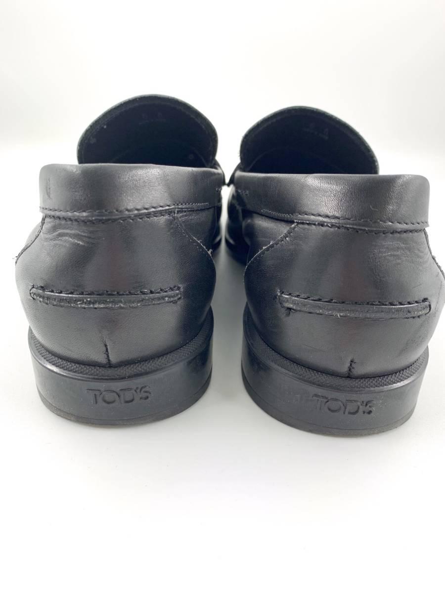 【1円スタート】 トッズ TOD'S レザー スリッポン 靴 シューズ 黒 サイズ 6 メンズ ビジネス_画像5