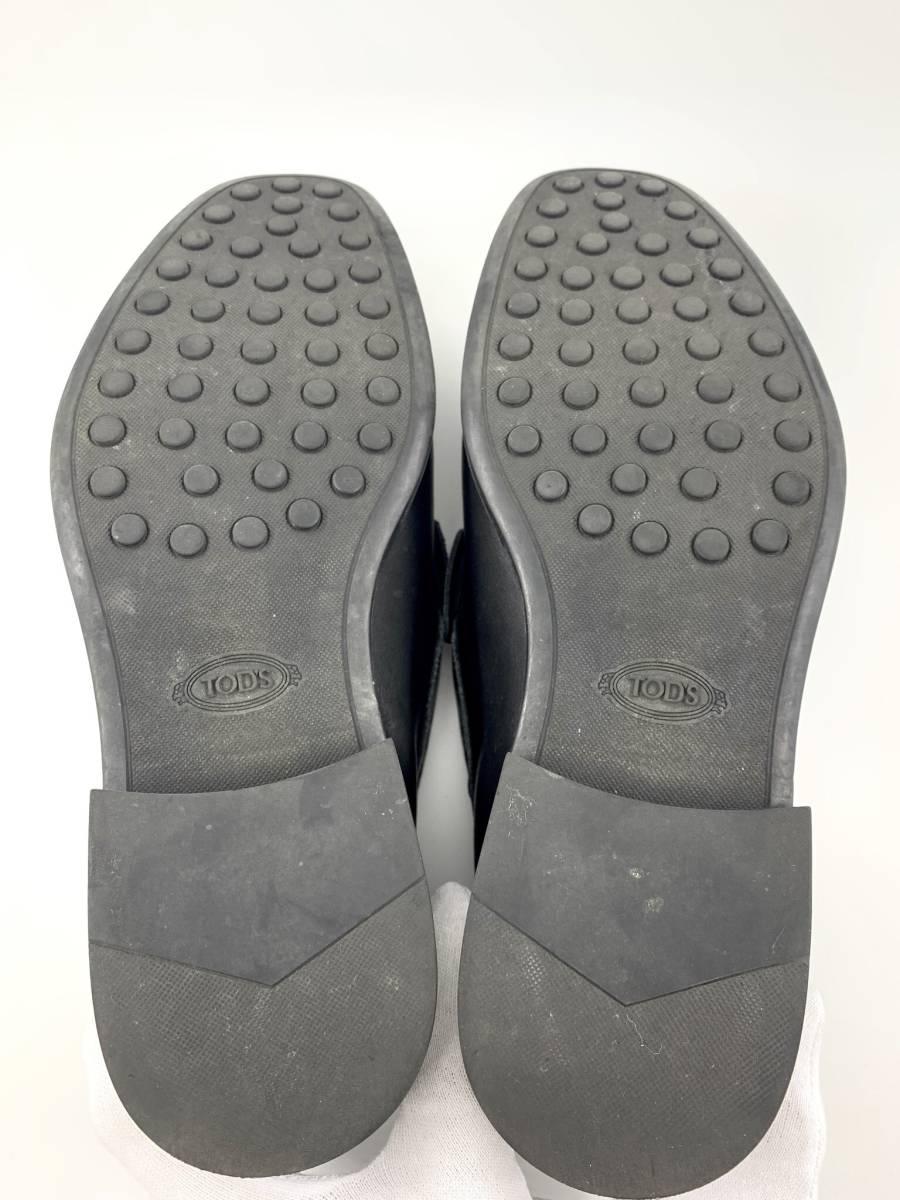 【1円スタート】 トッズ TOD'S レザー スリッポン 靴 シューズ 黒 サイズ 6 メンズ ビジネス_画像6