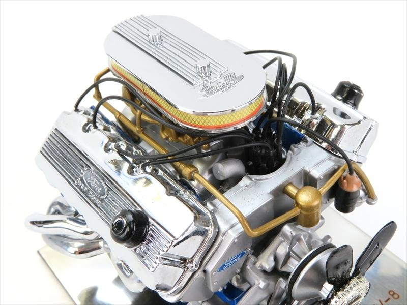 <送料無料>フォード427 SOHC V8 エンジン模型 ダイキャスト完成品