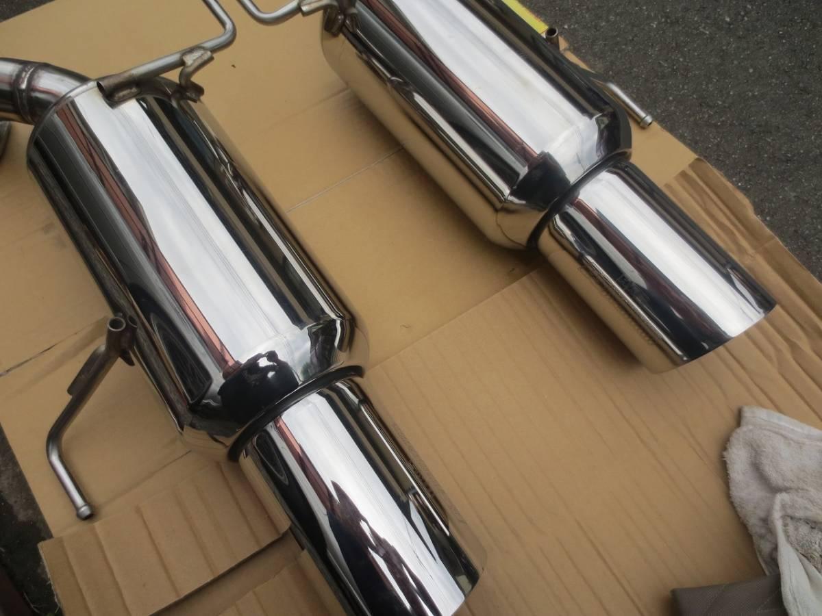 スバル BP5 レガシィワゴン ターボより取り外し HKS ES Premium ステンレスマフラー テール径115mm 左右セット 検)BP5/BP9/BPE_画像2