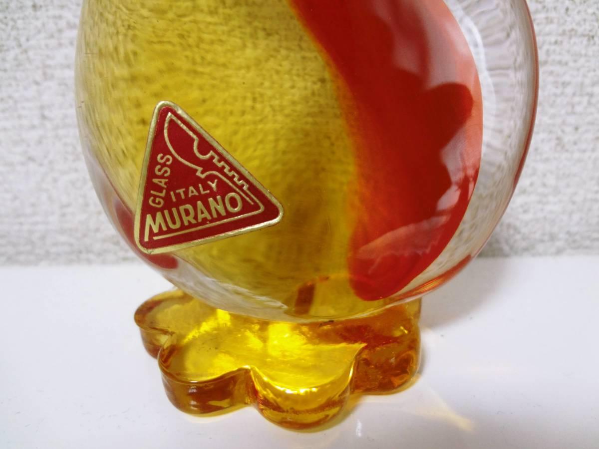 MURANO ムラーノガラス オブジェ あひる 置物 工芸 ガラス ITALY_画像2