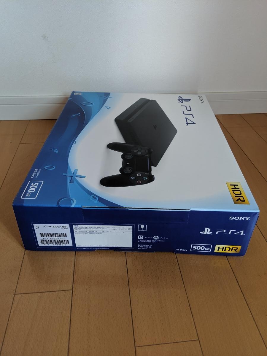 新品未開封 SONY PlayStation4 ジェット・ブラック 500GB CUH-2200AB01 新品未使用 プレステ4_画像3