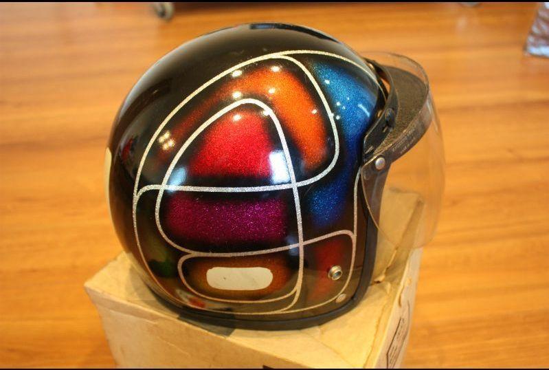 ビンテージ ヘルメット ELECTRO HELMETS 当時物 ラメ パネルデザイン 検索 / BUCO BATES_画像4