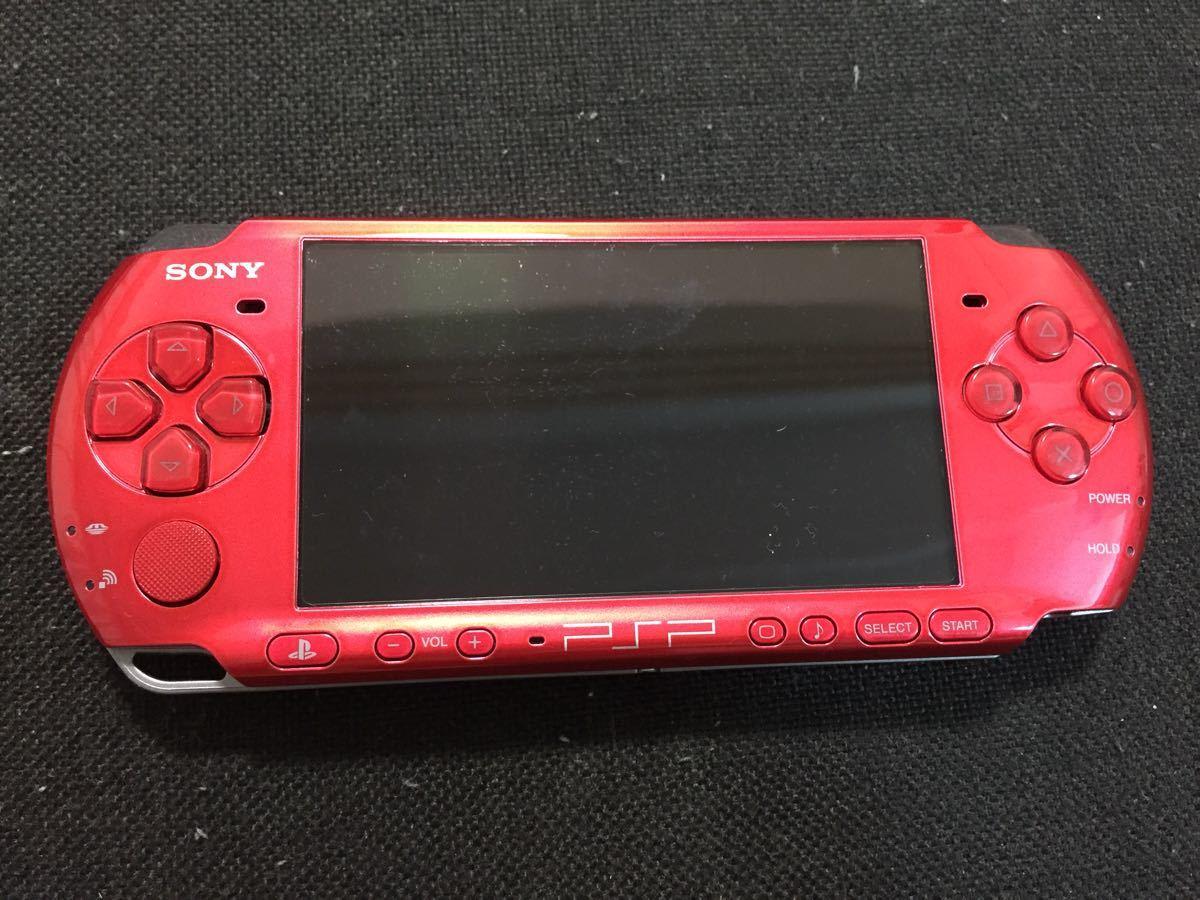 動作品 PSP 3000 レッド 本体のみ おまけあり メモリー8GB