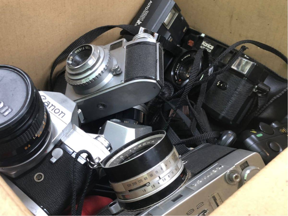 ジャンクカメラ / まとめて出品 / Konica sutoS2 / C35AF2D / Mamiya 35 / YASHICA j-3 / レトロカメラ / おまけつき_画像7