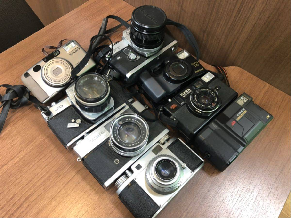 ジャンクカメラ / まとめて出品 / Konica sutoS2 / C35AF2D / Mamiya 35 / YASHICA j-3 / レトロカメラ / おまけつき